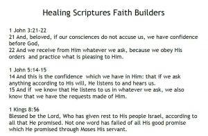 Healing Scriptures Faith Builders