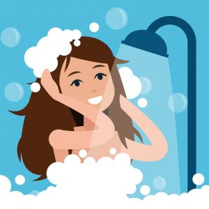 Shower with an ostomy